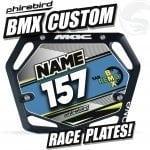 Custom BMX Race Plates Phirebird -