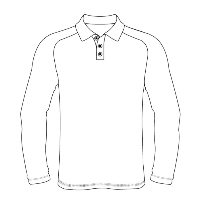 Raglan Long Sleeve Polo -